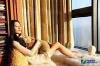 纯洁的诱惑 HiVi惠威X3白色版美女图赏