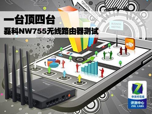 一台顶四台 磊科NW755无线路由器测试