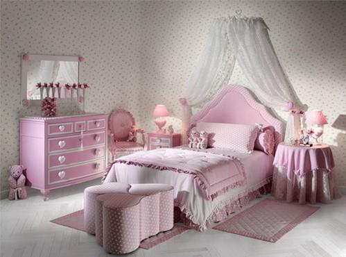 奢华温馨公主房 女生卧室装修设计组图