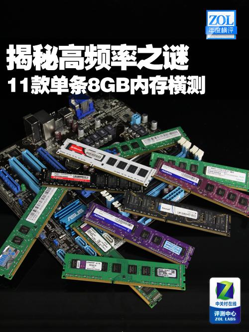 11款单条8GB内存横测 揭秘高频率之谜