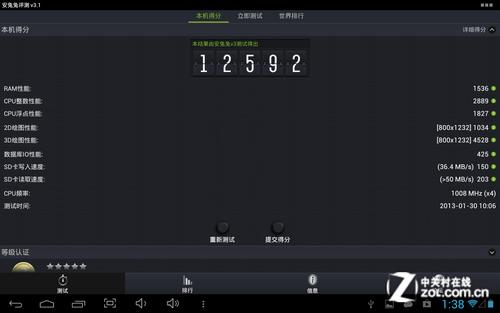 四核大屏王者风范 驰为V10四核评测
