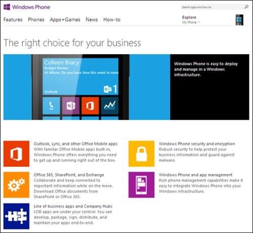 与Windows基础结构集成 微软推企业级WP8
