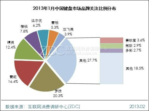 2013年1月中国键盘市场分析报告