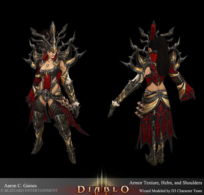 游戏角色设计师biotron的暗黑3设计作品