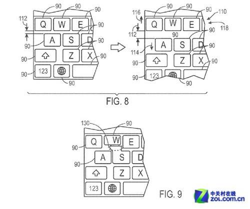 苹果再添专利 可自动调整大小的键盘