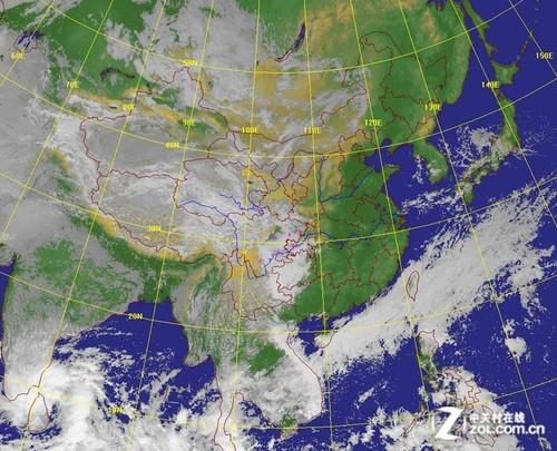 气象卫星云图-天气预报 天公的
