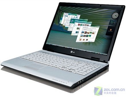 LG新款Vista笔记本亮相 模特相伴(图)