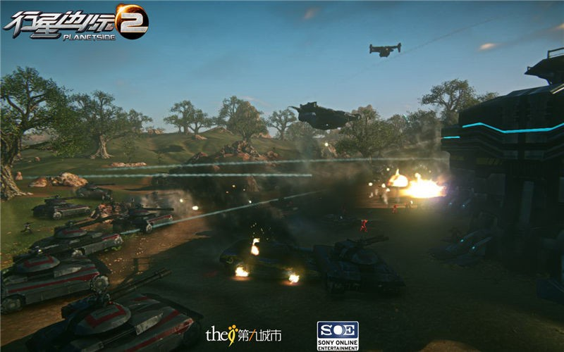 zol首页 新闻中心 游戏频道 网络游戏 飞机坦克齐上阵 《行星边际2》