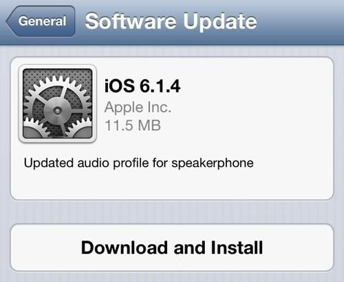 更新音频配置 iPhone 5独享6.1.4升级