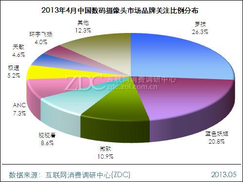 2013年4月中国数码摄像头市场分析报告