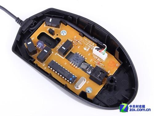 罗技g100s游戏鼠标电路板及底盘展示