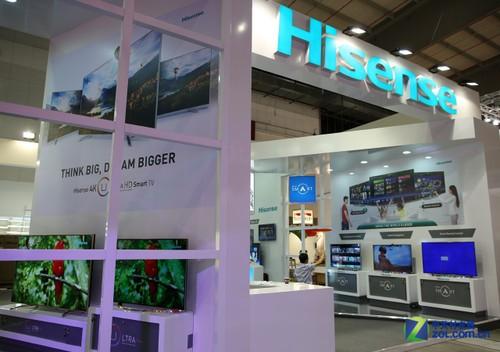 4K/3D透明电视 海信电视展台高清图赏