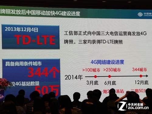 2014年年底中国移动4G将覆盖344个城市