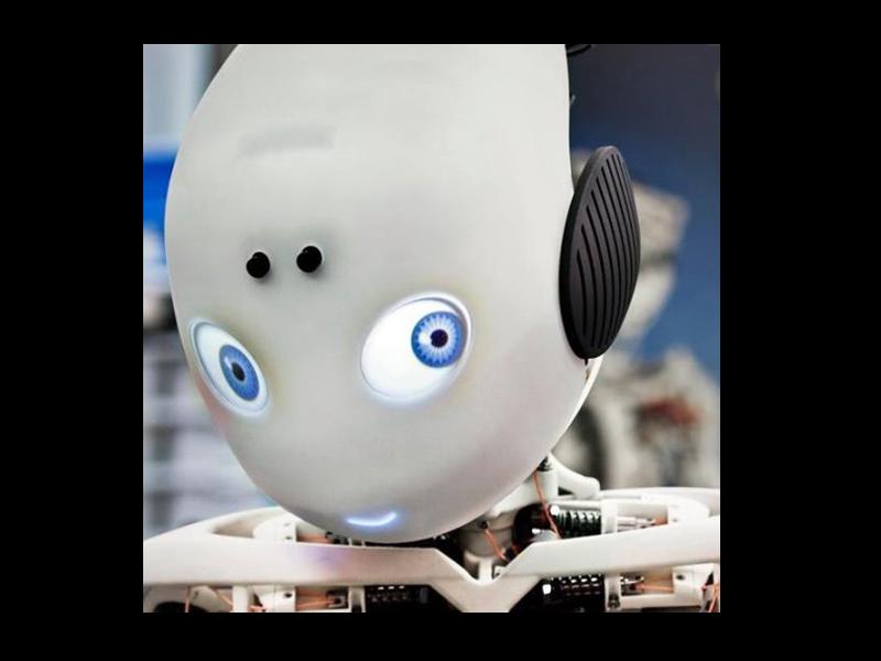 3d打印可爱机器人roboy:害羞脸红会卖萌