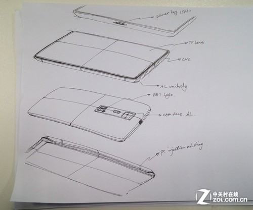 一加手机设计草图