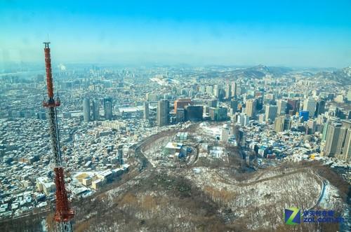 韩国首尔南山塔开始望远方