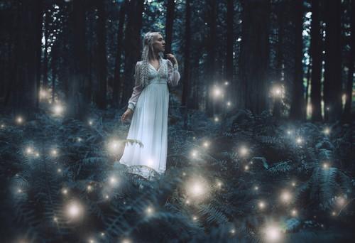 photoshop森林里的精灵美女梦幻场景效果12,安装教程素材包里面的笔刷