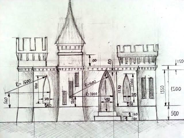 中世纪城堡的平面设计图