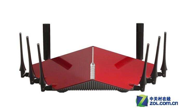 """在今年的CES大展上,形同""""怪兽""""的系列无线路由器震撼全场,而该系列新品正是由老牌无线设备厂商D-Link推出。其中一款旗舰级新品AC5300 DIR-895L/R,据称速率总和能达到5600Mbps,支持三频段无线应用。其中在2.4GHz频段上的最高无线传输将达1000Mbps,在两个5GHz频段上的最高无线传输将分别为2265Mbps,刷新了单频段理论传速的记录。"""