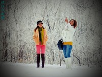 一抹白两片彩 Altek A806HD雪景实拍