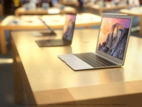 2015新Macbook Air渲染图曝光 美到极致