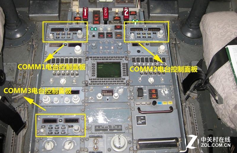 波音737飞机驾驶舱中