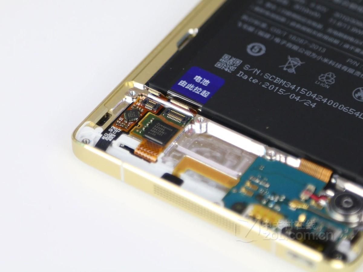 小米note内部电路板结构图