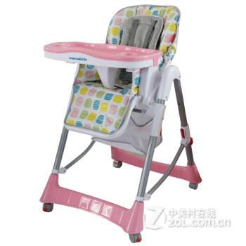 餐椅座椅可拆卸三档调节餐盘带刹车五点式安全带可折