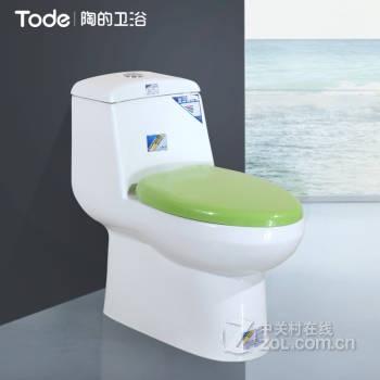 【陶的卫浴(tode)节水马桶虹吸式强冲力坐便器静音
