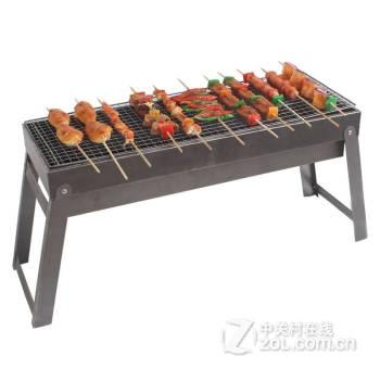 紅色營地戶外燒烤爐 便攜折疊木炭燒烤架 家用迷你燒烤爐子 鋼鐵俠純