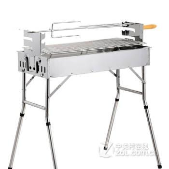 高端加厚不銹鋼燒烤爐子 家用木炭便攜燒烤架 戶外烤肉野外箱 豪華多