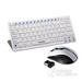 甲乙丙X10键盘鼠标套装笔记本台式电脑游戏无线鼠标键盘套装超薄键鼠套装特价静音无声键鼠 白色鼠标+白色键�