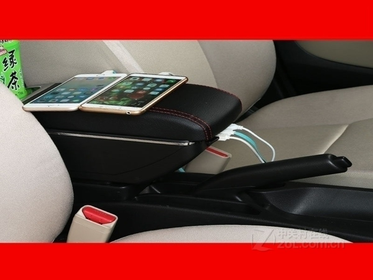 点缤上海通用雪佛兰乐风专用扶手箱 双层usb款黑色红线