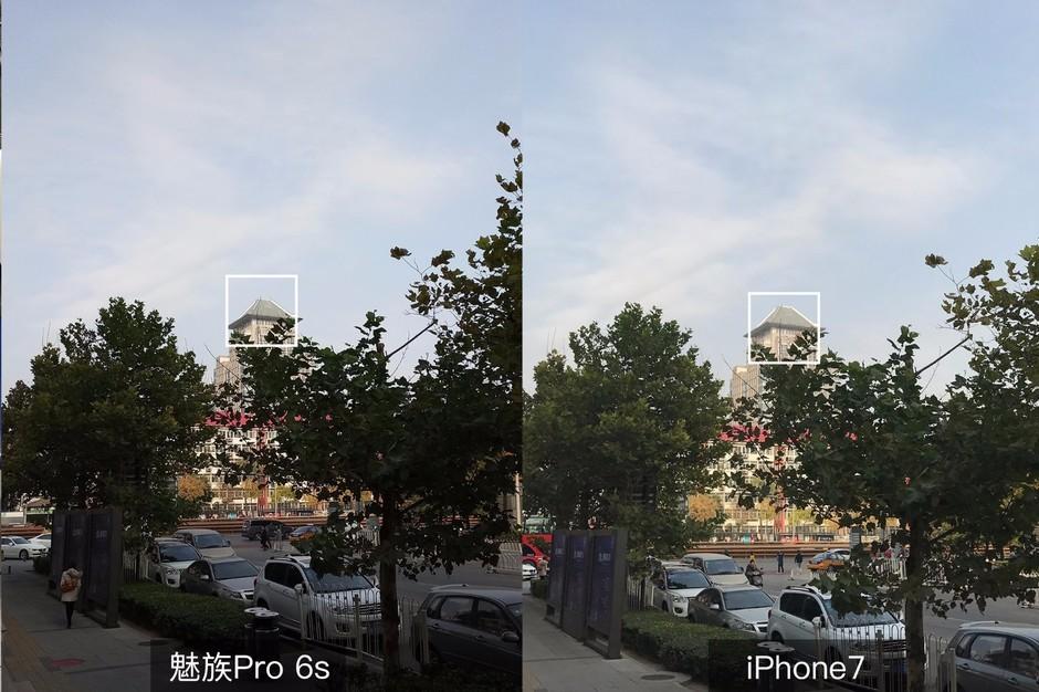 自损50%像素的魅族Pro 6s约苹果7比拍照