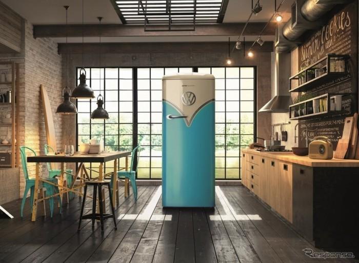 【高清图】 摩登时代设计风格 大众汽车复古冰箱 图2