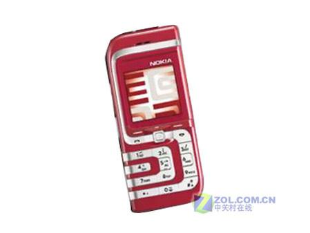 图为:诺基亚红色7260手机