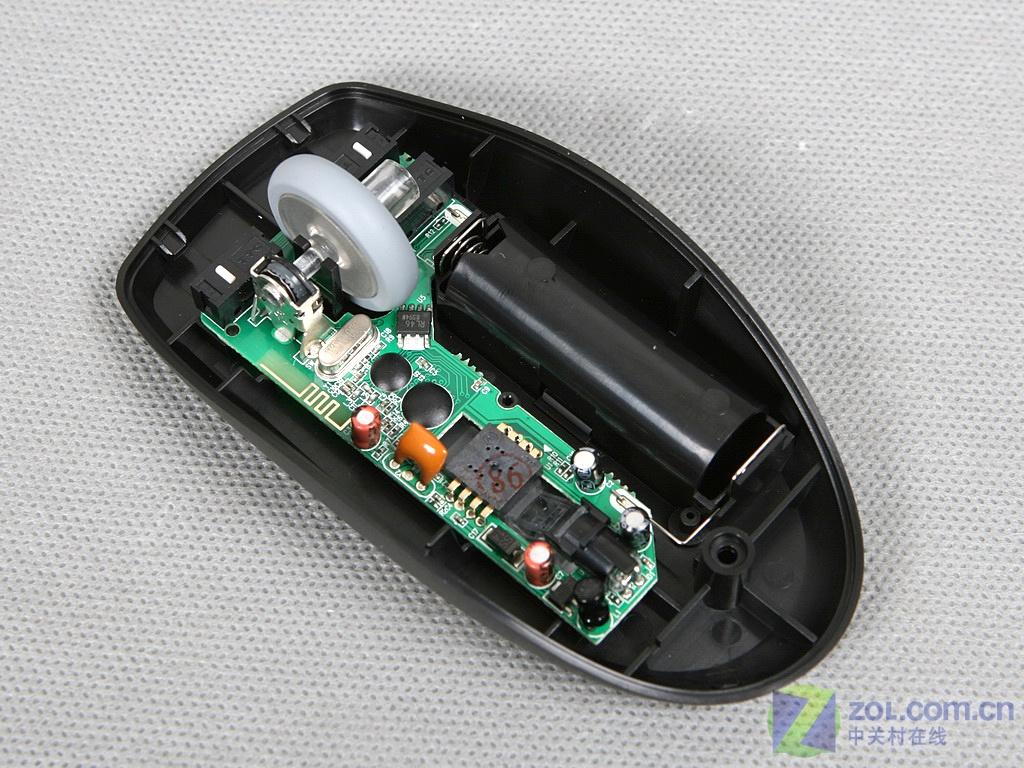 【原始大图】雷柏1000桌面型无线光学鼠标拆解图图片