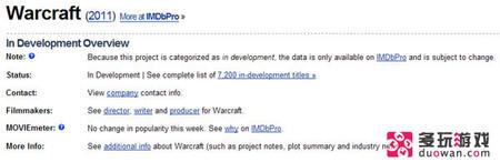 《魔兽世界》电影版可能推迟至2014年后