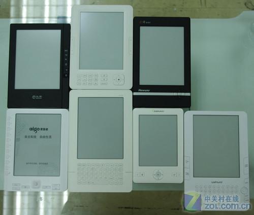 七款电子书横评之外观、硬件参数比较
