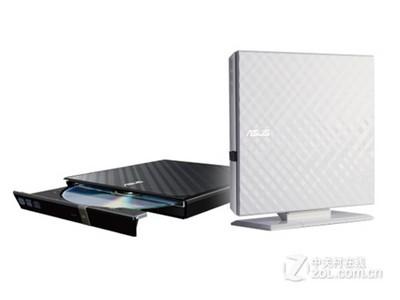 华硕(ASUS)SDRW-08D2S-U 外置光驱 DVD刻录机(黑色)兼容苹果Mac系统