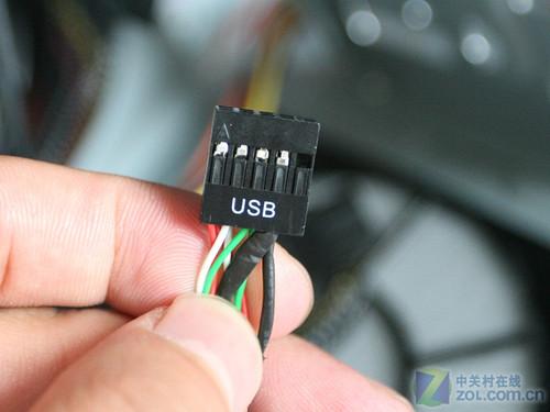 usb,负责机箱前置usb接口