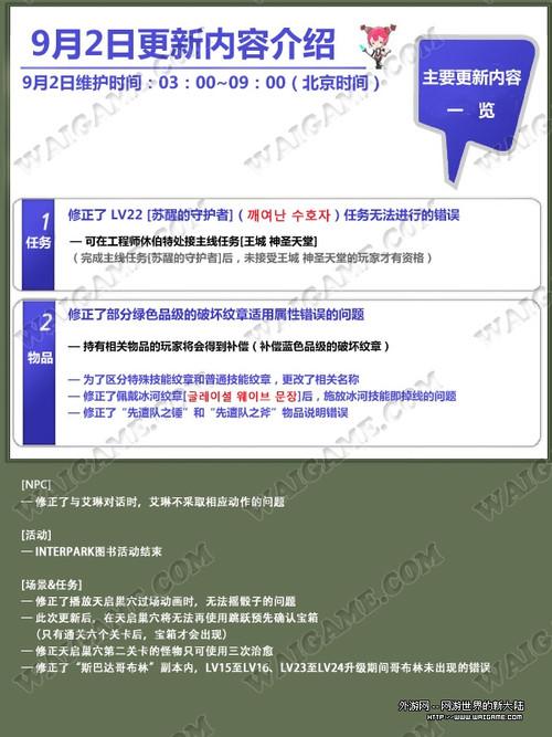 韩服龙之谷9月2日最新更新内容一览