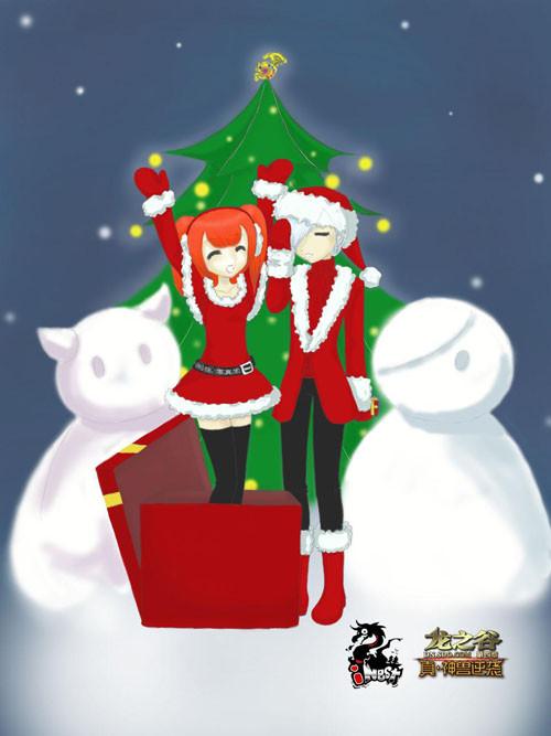 精彩手绘迎圣诞