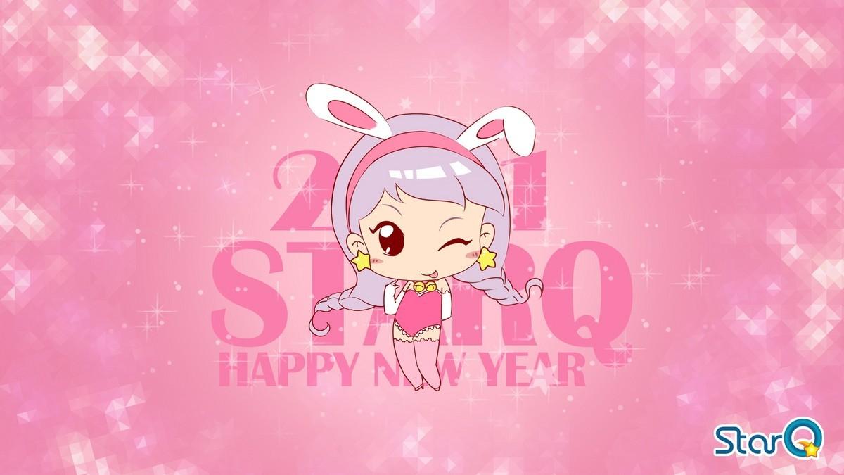 【高清图】 贺新年喽!哈宝米露可爱壁纸网络首发图2