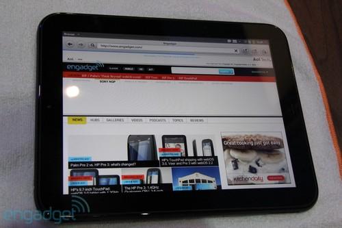 惠普9.7英寸TouchPad平板实机欣赏(图)