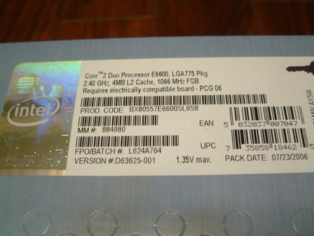 轻松超至3.6GHz 英特尔盒装E6600图测
