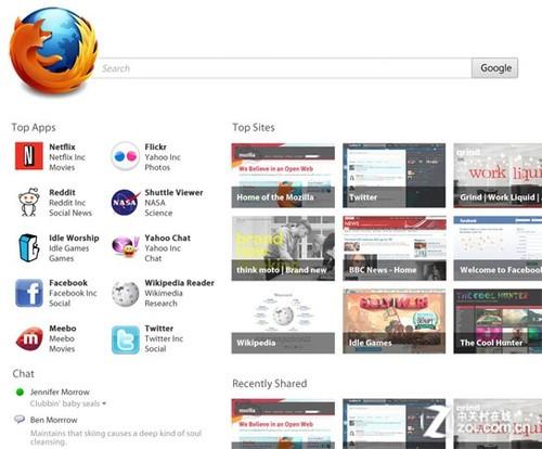 Mozilla计划全面颠覆Firfox默认主页_火狐