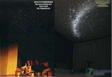 臥室天花板看浪漫星空