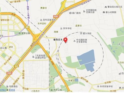地图标注处为中国电影博物馆