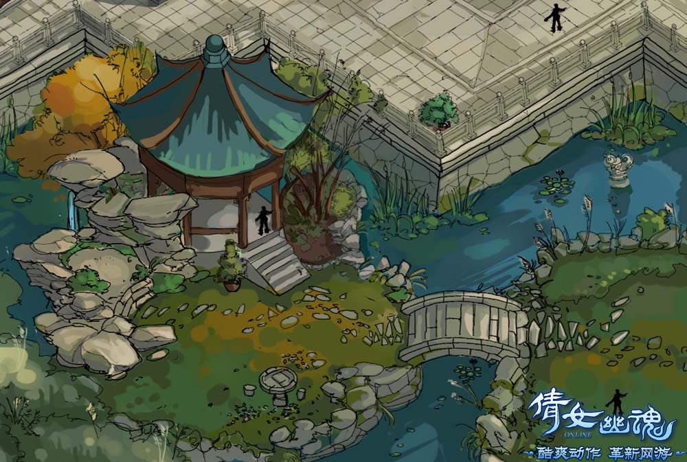 游戏 原画 欧式宫殿